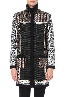 ETRO Patterned jacquard-knit coat