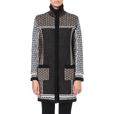 ETRO Patterned jacquard-knit coat (Multi