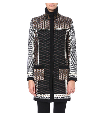 ETRO Patterned jacquard-knit coat (Multi