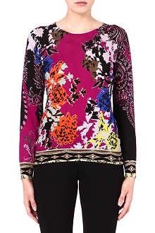 ETRO Silk-blend printed jumper