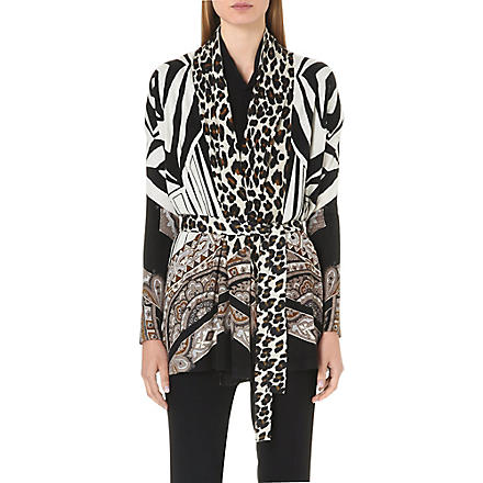 ETRO Lightweight silk and cashmere-blend cardigan (Multi