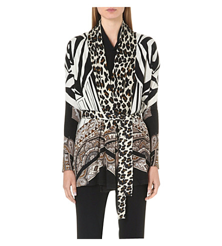 ETRO Lightweight silk and cashmere-blend cardigan (Multi