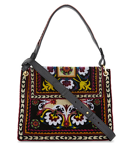 ETRO Embroidered foulard shoulder bag (Multi
