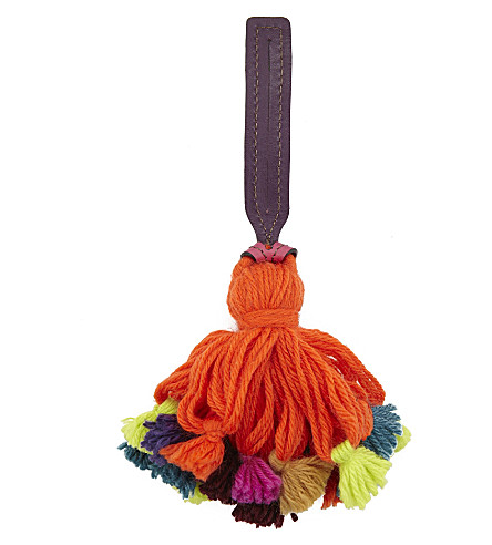 ETRO Pom Pom tassel bag charm (Multi