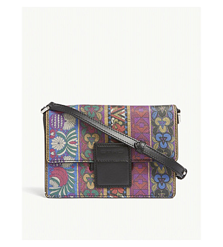 ETRO Rainbow ribbon leather cross-body bag (Multi