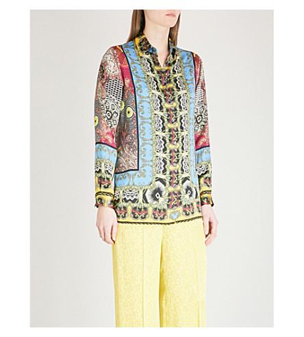 ETRO Floral-print silk shirt (Multi