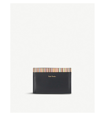 PAUL SMITH ACCESSORIES Multi-stripe card holder (Black