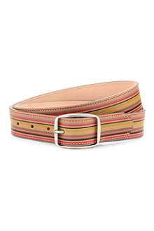 PAUL SMITH ACCESSORIES Vintage multi-stripe leather belt