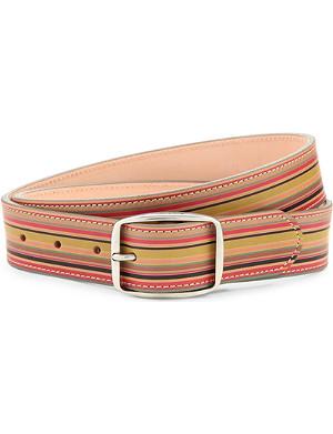 PAUL SMITH ACCESSORIES Vintage multi-stripe leather belt