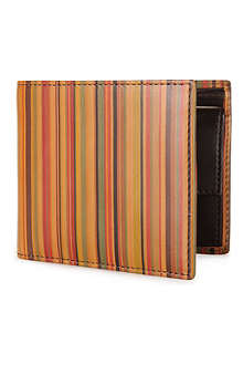 PAUL SMITH ACCESSORIES Striped coin wallet