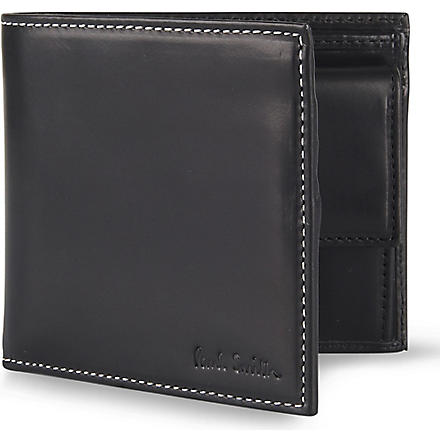 PAUL SMITH ACCESSORIES Multi-striped coin wallet (Black