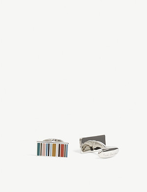 PAUL SMITH ACCESSORIES Stripe name cufflinks