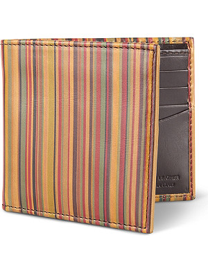 PAUL SMITH ACCESSORIES Vintage striped billfold wallet