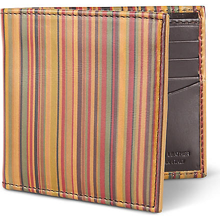 PAUL SMITH ACCESSORIES Vintage striped billfold wallet (Multi