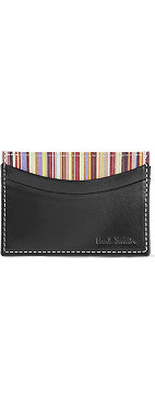 PAUL SMITH ACCESSORIES Interior multi-striped card case