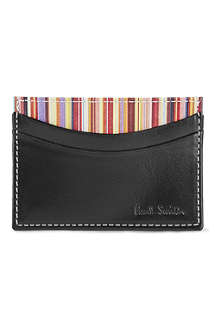 PAUL SMITH Interior multi-striped card case