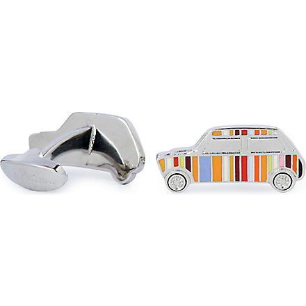 PAUL SMITH Multi-striped mini cufflinks (Multi