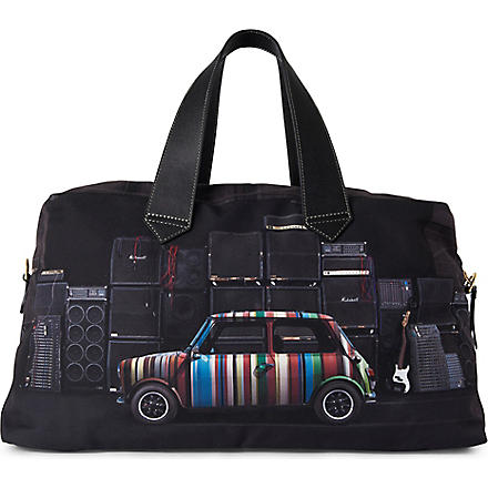 PAUL SMITH ACCESSORIES Mini with Speakers canvas holdall (Black