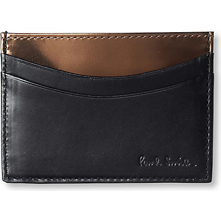 PAUL SMITH ACCESSORIES Metallic-interior card case (Black