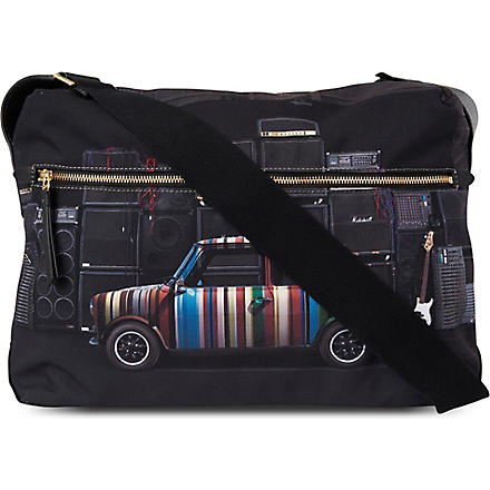 PAUL SMITH ACCESSORIES Mini with Speakers flight bag (Black