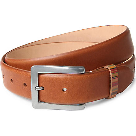 PAUL SMITH ACCESSORIES Vintage multi-striped keeper belt (Tan