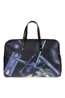 PAUL SMITH Printed leather holdall