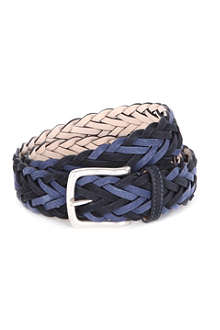 PAUL SMITH ACCESSORIES Plaited nubuck-leather belt
