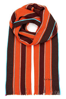 PAUL SMITH ACCESSORIES Neon college scarf