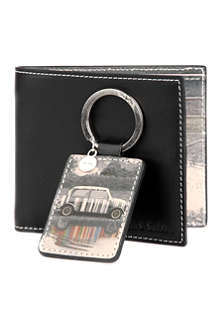 PAUL SMITH ACCESSORIES Mini Puddle wallet and key ring set