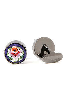 PAUL SMITH Mosaic floral cufflinks