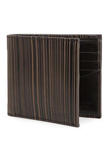 PAUL SMITH Laser-stripe leather bi-fold wallet