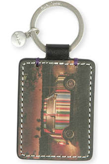 PAUL SMITH Mini-on-location leather key ring
