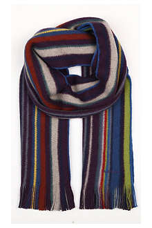PAUL SMITH Reversible striped scarf