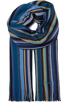 PAUL SMITH Twisted stripe scarf