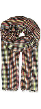 PAUL SMITH Multicoloured checked scarf