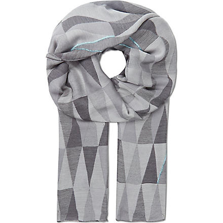 PAUL SMITH Prism jacquard scarf (Grey'