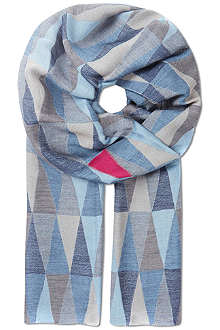 PAUL SMITH Prism jacquard scarf