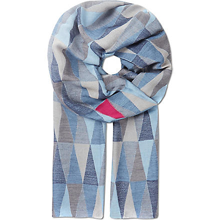 PAUL SMITH Prism jacquard scarf (Navy