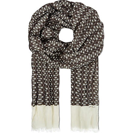 PAUL SMITH Abstract print scarf (Grey