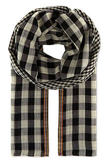 PAUL SMITH Double gingham check scarf