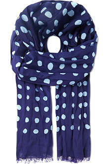 PAUL SMITH Polka dot print scarf