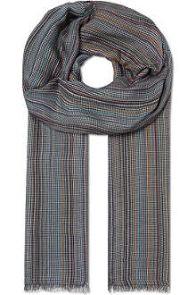 PAUL SMITH Puppy tooth modal scarf