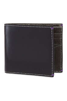 PAUL SMITH Mini crosshatched bifold wallet