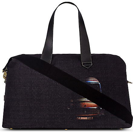 PAUL SMITH Crosshatched holdall (Black