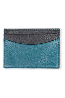 PAUL SMITH Colour-block leather card case