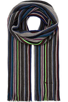 PAUL SMITH Neon striped scarf