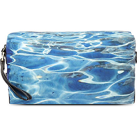 PAUL SMITH Water-print wash bag (Blue