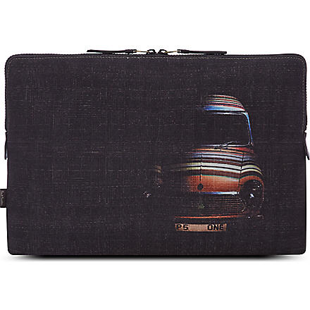 PAUL SMITH Cross hatched laptop case (Black