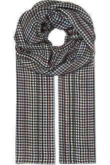 PAUL SMITH Multi-stripe checked scarf