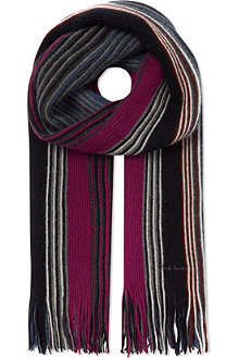 PAUL SMITH Fine stripe scarf